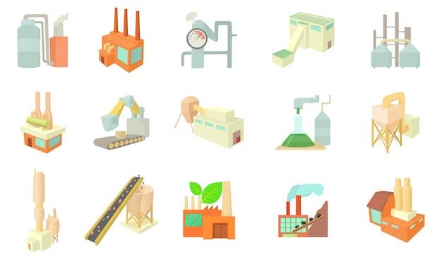 Conjunto de ícones de fábrica