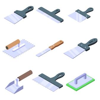 Conjunto de ícones de faca putty