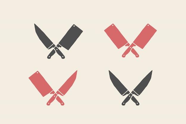 Conjunto de ícones de facas de restaurante