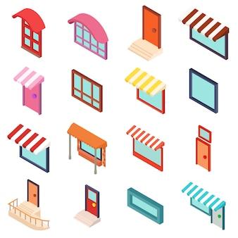 Conjunto de ícones de fachada