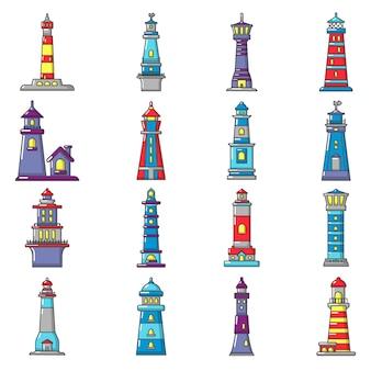 Conjunto de ícones de farol