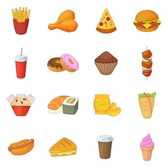 Conjunto de ícones de fast-food