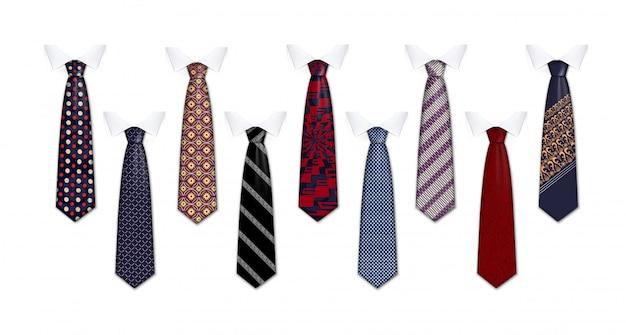 Conjunto de ícones de fato de gravata