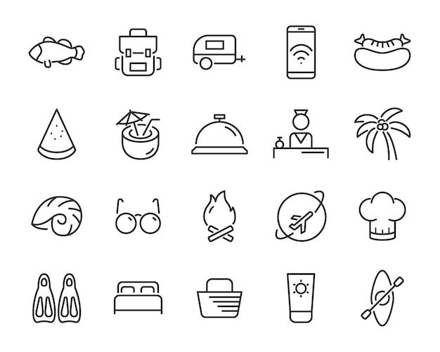 Conjunto de ícones de férias de feriados