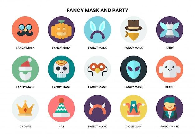 Conjunto de ícones de festa