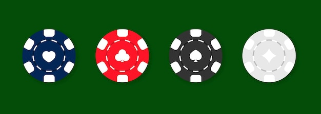 Conjunto de ícones de fichas de cassino