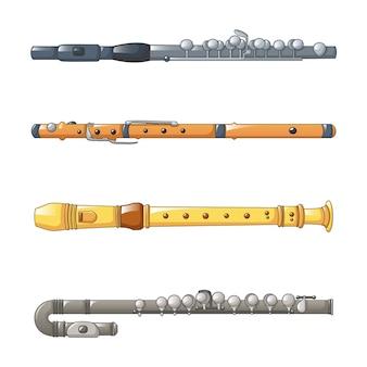 Conjunto de ícones de flauta