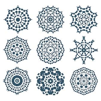 Conjunto de ícones de flocos de neve