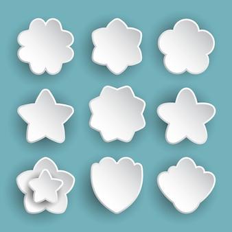 Conjunto de ícones de flor