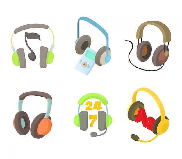 Conjunto de ícones de fone de ouvido