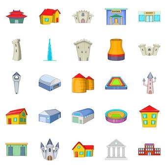 Conjunto de ícones de formação, estilo cartoon