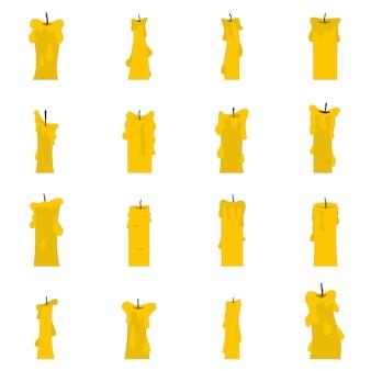 Conjunto de ícones de formas de vela em estilo simples