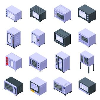 Conjunto de ícones de forno de convecção