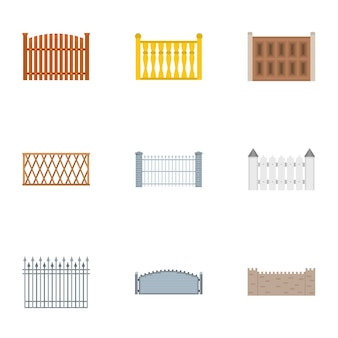 Conjunto de ícones de gabinete, estilo simples