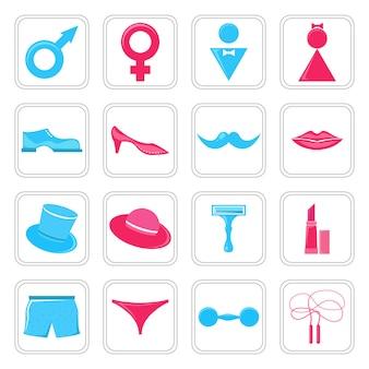 Conjunto de ícones de gênero