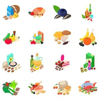 Conjunto de ícones de gêneros alimentícios