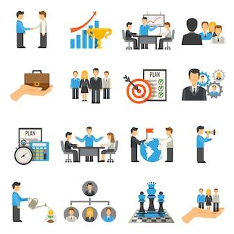 Conjunto de ícones de gestão