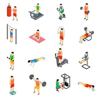 Conjunto de ícones de ginásio