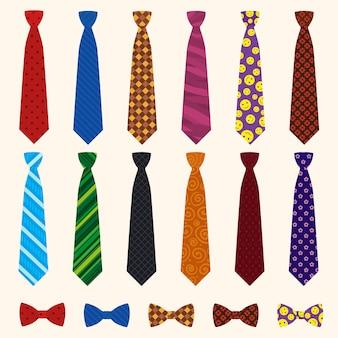 Conjunto de ícones de gravata.