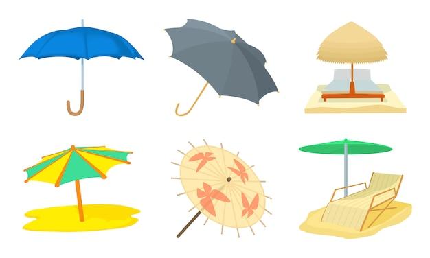 Conjunto de ícones de guarda-chuva