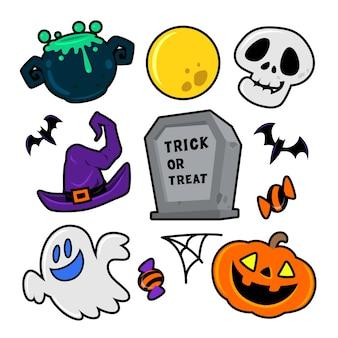 Conjunto de ícones de halloween