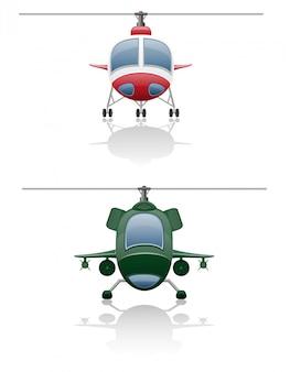 Conjunto de ícones de helicóptero.