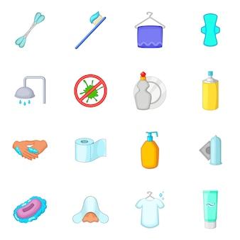 Conjunto de ícones de higiene