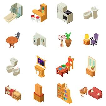 Conjunto de ícones de hospedagem