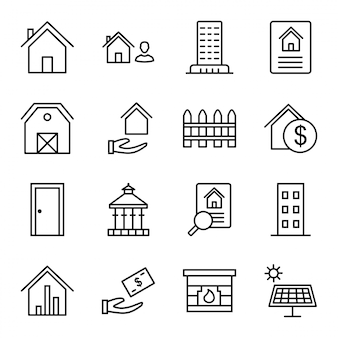 Conjunto de ícones de imóveis