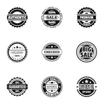 Conjunto de ícones de implementação, estilo simples