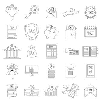 Conjunto de ícones de impostos