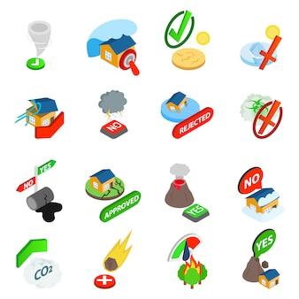 Conjunto de ícones de índice