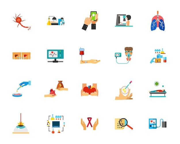 Conjunto de ícones de infecção viral