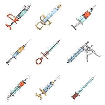 Conjunto de ícones de injeção