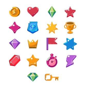 Conjunto de ícones de jogos de computador