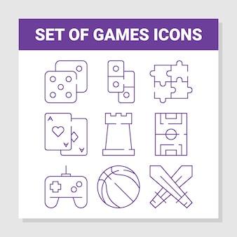 Conjunto de ícones de jogos