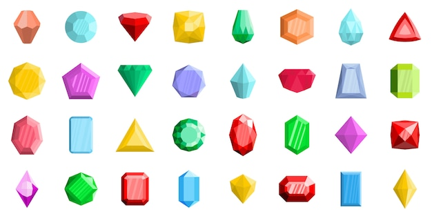 Conjunto de ícones de joia