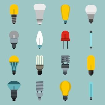 Conjunto de ícones de lâmpada