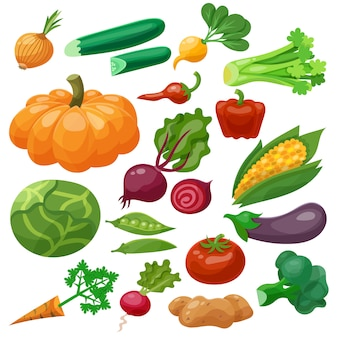 Conjunto de ícones de legumes