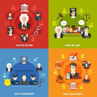 Conjunto de ícones de lei