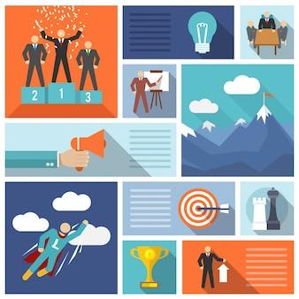 Conjunto de ícones de liderança