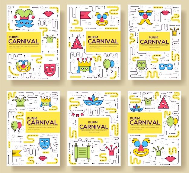 Conjunto de ícones de linhas finas de equipamento de festa de feriado festival de celebração.