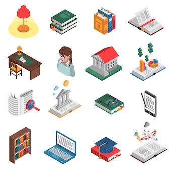 Conjunto de ícones de livros