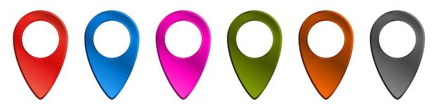 Conjunto de ícones de localização ilustração vetorial mapa pin símbolo coleção