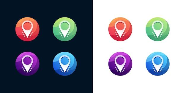 Conjunto de ícones de localização