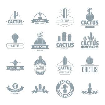 Conjunto de ícones de logotipo de cacto