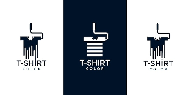 Conjunto de ícones de logotipo de camisetas para colorir
