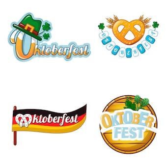 Conjunto de ícones de logotipo de cerveja octoberfest
