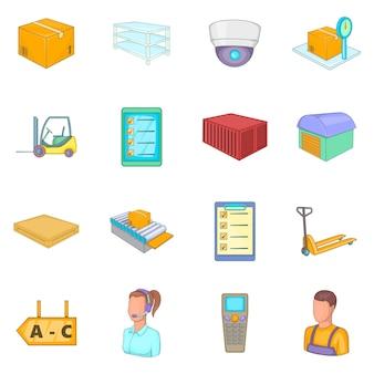 Conjunto de ícones de loja de armazém