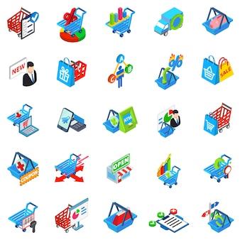 Conjunto de ícones de loja de compras